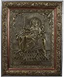 Kapasi Handicrafts Brass Copper Goddess Shree Umiya Mata Wall Hanging Photo Frame (33 x 2.5 x 40.5 cm, Silver)