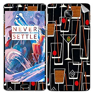 Theskinmantra Martini Peno mobile SKIN/STICKER/DECAL for OnePlus 3/Oneplus Three/1+3