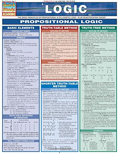 Logic: The Basic Principles of Propositional and Syllogistic Logic - Plus Quantification Theory (Quick Study: Academic)