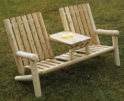 Buy Low Price RUSTIC NATURAL CEDAR Cedar Log Garden Loveseat (01007TT)