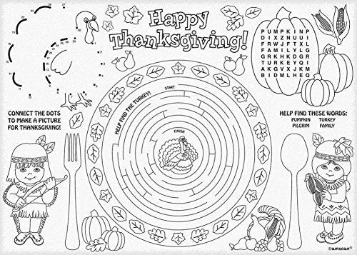 Thanksgiving Paper Activity Placemats (24)
