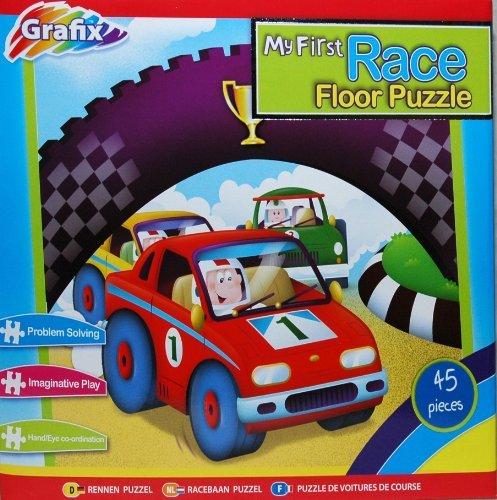 Giant 45-Piece Floor Puzzle - My 1st Race - 1