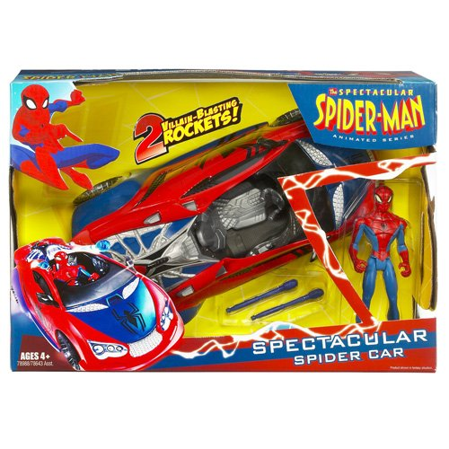 Spiderman Animated Vehicles with Figure - Spectacular Spider Car