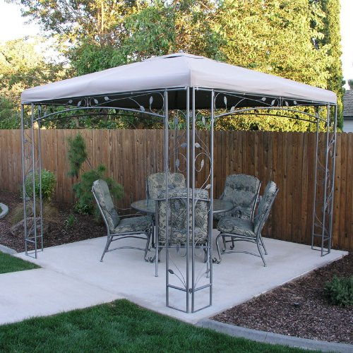 Replacement Canopy For Backyard Creations Gazebo : Victoria Gazebo Replacement Canopy  RipLock 500  Gazebos  Patio and