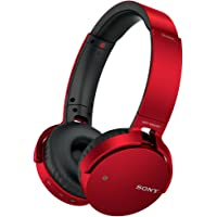 Sony XB Series Over-Ear Wireless Bluetooth Headphones (Red)