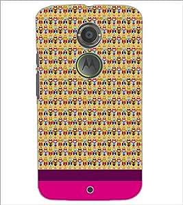 PrintDhaba Owl pattern D-1859 Back Case Cover for MOTOROLA MOTO X2 (Multi-Coloured)