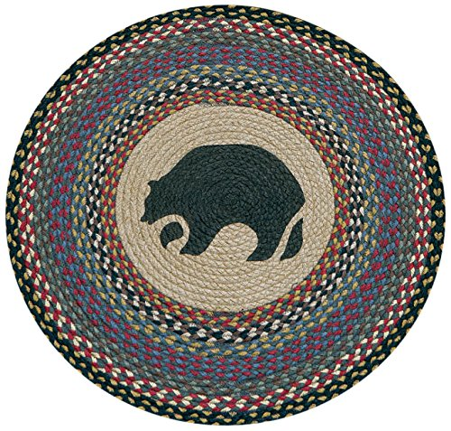Earth Rugs RP-043 Black Bear Printed Rug, 27