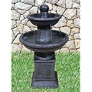 Fontaine décorative de jardin avec pompe et onyx pyramide humidificateur d'air-noir