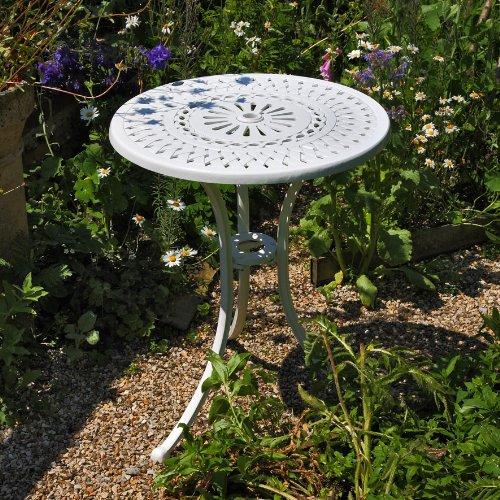Weißer Eve 60cm Bistrotisch – 1 Weißer Eve Tisch + 2 Weiße ROSE Stühle günstig online kaufen