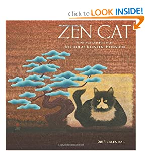 Zen Cat 2013 Wall Calendar