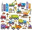 City Construction Decorative Peel & Stick Wall Art Sticker Decals from Cherry Creek LLC