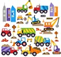 City Construction Decorative Peel & Stick Wall Art Sticker Decals from Cherry Creek LLC