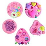 Flower Cake Fondant Molds 5 Pack Rose Flowers Heart Silicone Molds Flower Daisy Mold for DIY Cake Decorating Soap Clay Fimo Chocolate Sugar Small Craft Molds (Color: Flower Cake Fondant Molds, Tamaño: Flower Cake Fondant Molds)