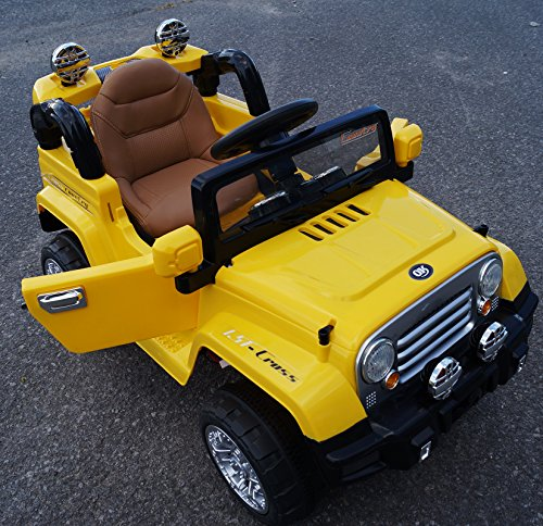 new limited edition jeep wrangler style 12v ride on car for kids with leather seatopening doorsmusic remote control