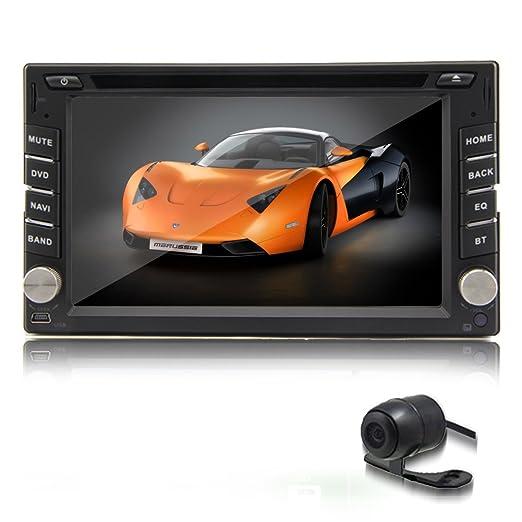 Double 2 din 6.2 '' navigation GPS de voiture stšŠršŠo Lecteur DVD Radio tactile iPod + CamšŠra