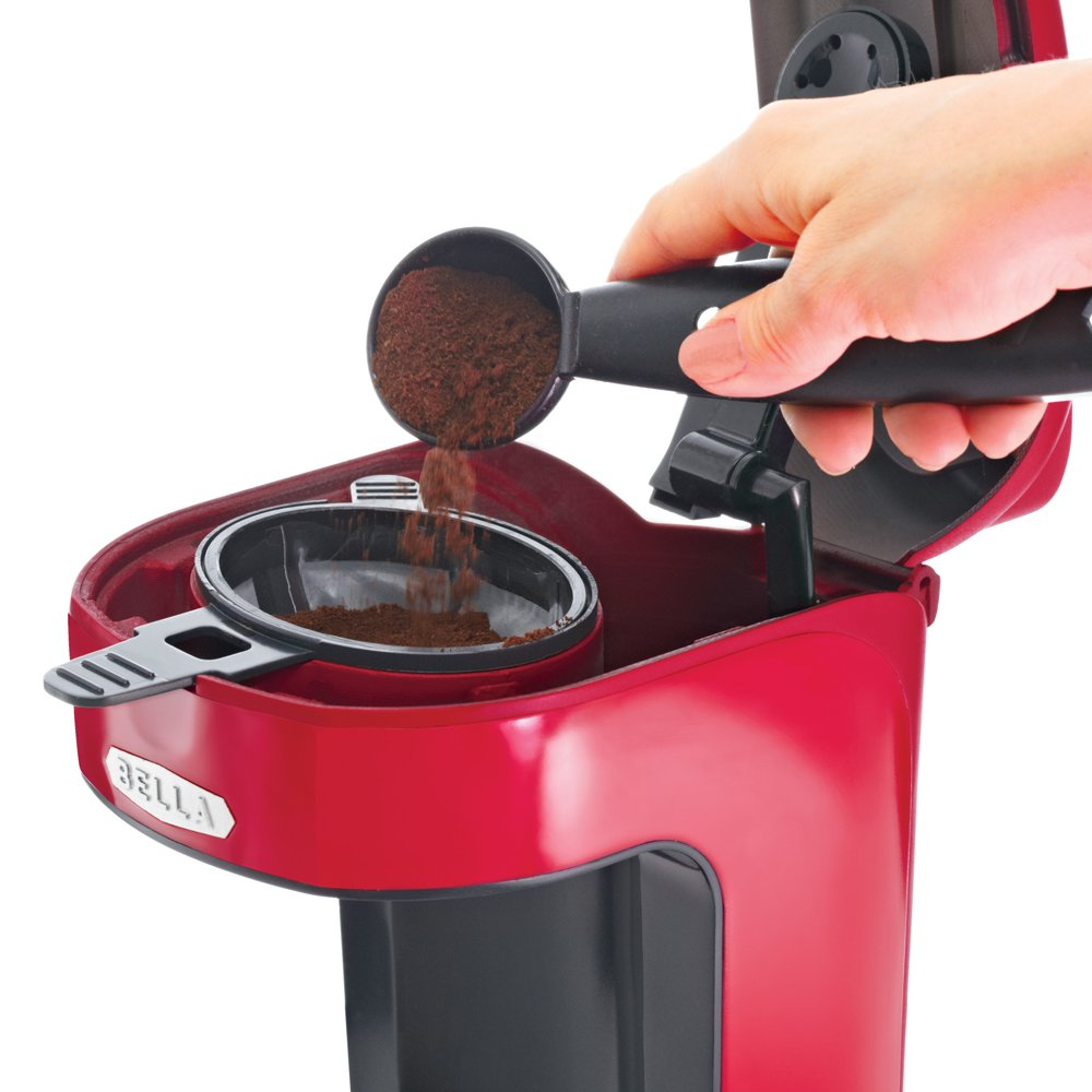 Bella Coffee Maker Filter Size : BELLA 13711 One Scoop One Cup Coffee Maker, Red, Free Shipping, New eBay