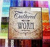 Tattered & Worn 12x12 Scrapbooking Paper Pack, 180 Sheets, Vintage, Damask, Floral, Foliage, Dots