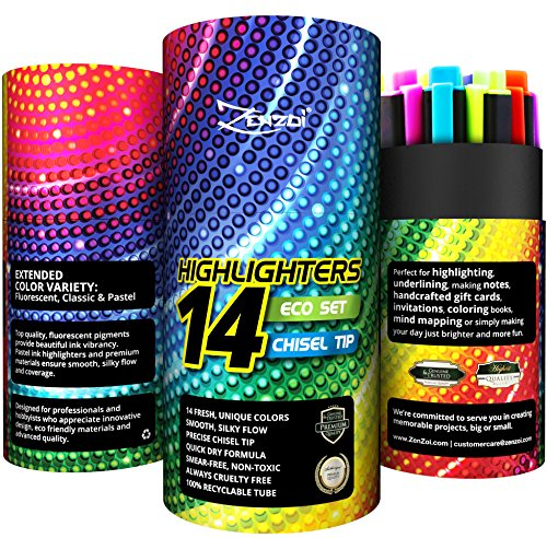 highlighters-assorted-colors-highlighter-marker-pens-pack-large-value-pack-of-14-color-markers-chise