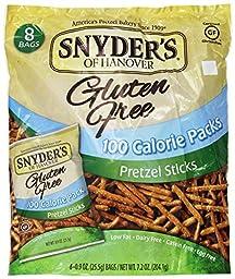 Snyders of Hanover Gluten Free 100 Calorie Pretzel Sticks, 7.2 Ounce -- 6 per case.