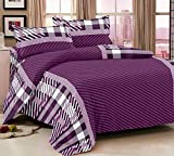 Trance Double Bed Comforters - Abstract Purple Stripes