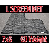 Baseball 7 X 6 Replacement L-Screen Net 42 X 42 Cut Out #60 (SUPER HEAVY DUTY) [Net World Sports]