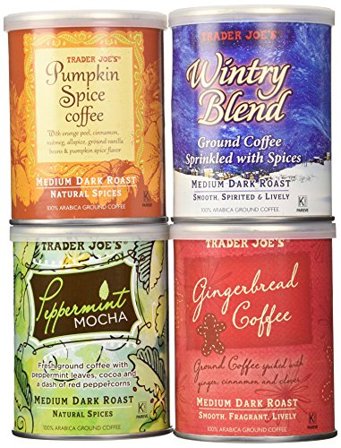 Trader Joe's Joyous Joe Ground Coffee Sampler - A Festive Assortment of Flavored and Spiced Coffees (Flavored Coffee compare prices)