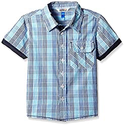 People Boys' Shirt (P30502156428812_MultiColor Check_8-9 Yrs)