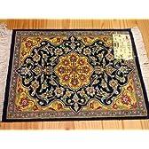 Q65手織りシルクペルシャ絨毯 29cmx37xcm