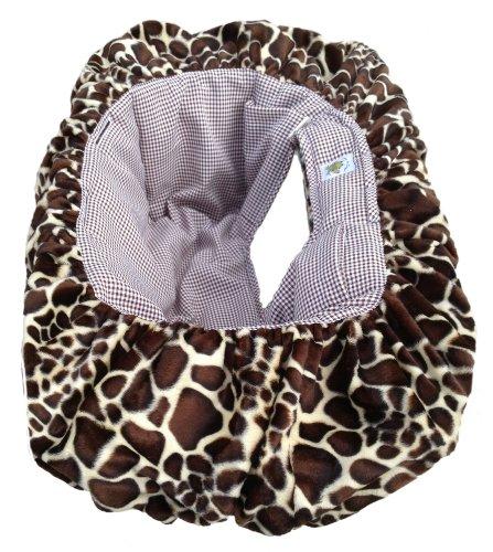 Patricia Ann Designs Check Shopping Cart Cover, Giraffe/Chocolate front-81080