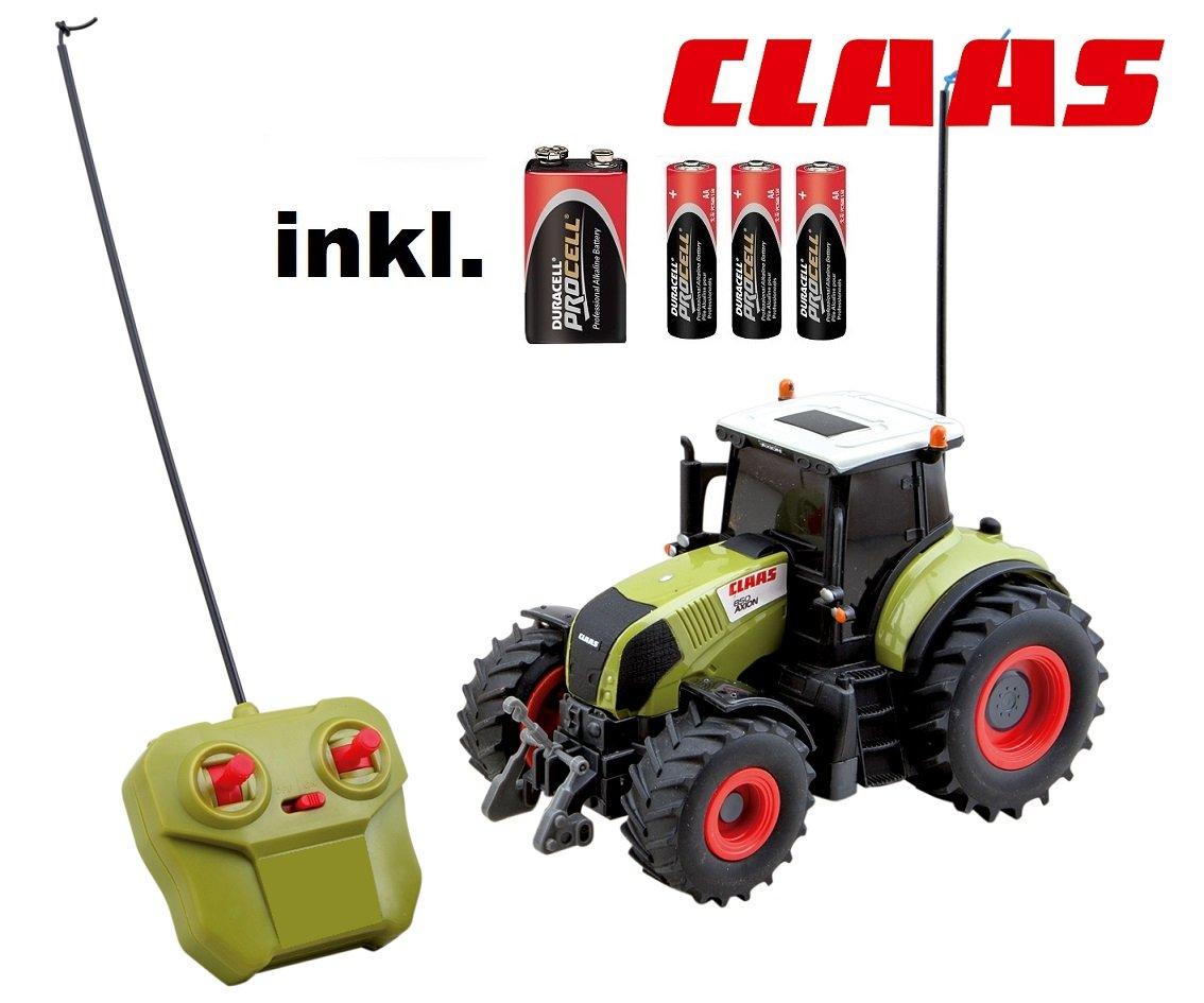 RC ferngesteuerter Traktor Claas Axion 850 Maßstab 1:20 inkl. allen Batterien RTR – Sofort Spielbereit – LIZENZ NACHBAU als Geschenk