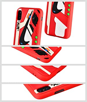 7c195dd288c6b iPhone Shoe Case Chicago/White 1's Official 3D Print Textured Shock ...