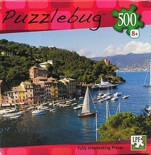 Puzzlebug 500 Piece Jigsaw Puzzle Boats Sailing By Portofino, Ligura, Italy - 1