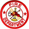 Firemen Patch - Fire Department Sign, 3x3 inch, small embroidered iron on patch