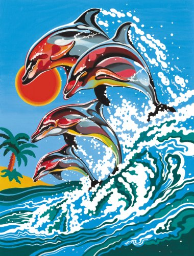 reeves-12034-peinture-au-numero-dauphins