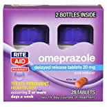 Rite Aid Acid Reducer Omeprazole Delayed Release Tablets 20mg, Bottle, 28 ct