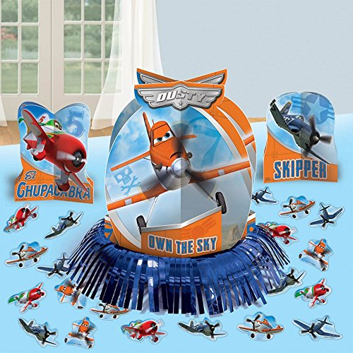Amscan Disney Planes 2 Birthday Table Decorating Kit (23 Piece), Blue/Orange, 12 3/5""