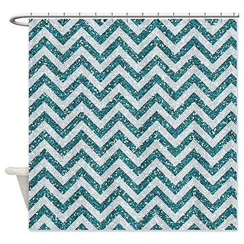 Pretty Glitter Chevron Shower Curtain Designs