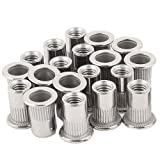 20pcs 3/8-16 Rivet Nuts Stainless Steel Threaded Insert Nutsert Rivnuts 3/8-16UNC (Color: Stainless Steel, Tamaño: 3/8-16)
