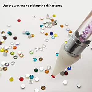 Afantti Jewel Picker Setter Pickup Tool - Wax Pencil Rhinestone Applicator Application Kit - for Pick Up Nail Gem Crystal Jewelry   Double Ended    Flatback Rhinestones (2400 Pcs)