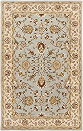 Blue Rug Classic Design 5-Foot x 8-Foot Hand-Made Traditional Wool Carpet
