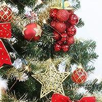 クリスマスツリー 150cm セット レッドゴールドツリー [ 豪華 オーナメント付き ] 電飾 ライト付