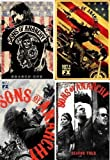 Sons of Anarchy Seasons 1-4 All Four Seasons on DVD 16 Disc Set New and Factory Sealed