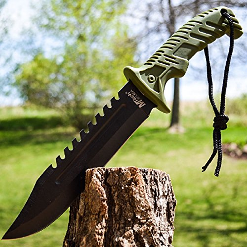 13″ TACTICAL SURVIVAL Rambo Hunting FIXED BLADE KNIFE Army Bowie w/ SHEATH