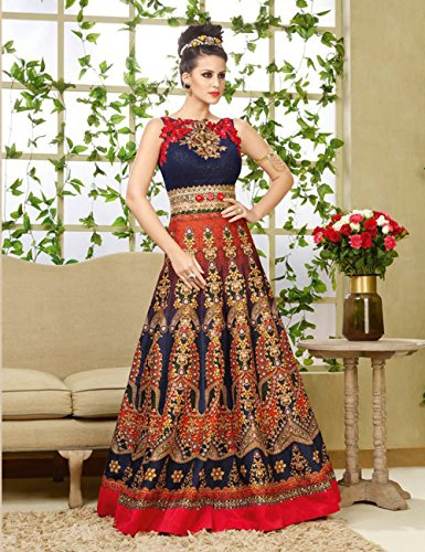 Multycolor Designer Gown