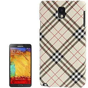 Plaid Pattern Skinning Plastic Case for Samsung Galaxy Note 3 N9000 in Beige