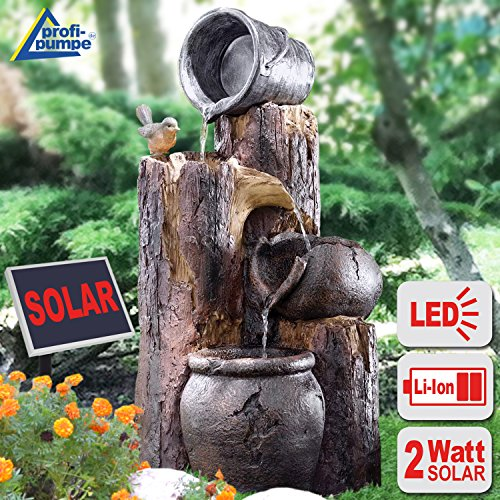 solar gartenbrunnen brunnen solarbrunnen zierbrunnen vogelbad wasserfall gartenleuchte. Black Bedroom Furniture Sets. Home Design Ideas