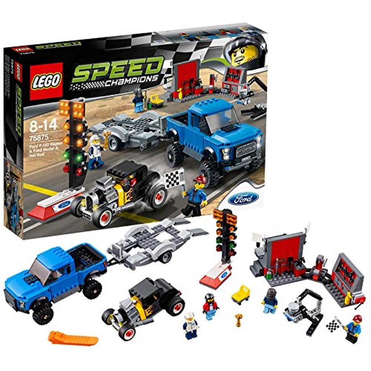 [해외] 레고 (LEGO) 스피드 챔피언 포드 F-150 랩터&포드 모델 A 핫 로드 75875-75875 (2016-03-04)