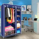 Kawachi-Elegant-Double-Sided-Foldable-Canvas-Wardrobe-K01
