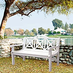 Amazon Com Concord Cast Aluminum Camelback Park Bench