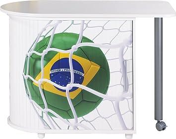 Simmob COOL100BL958 Coppa del mondo Brasile Pallone 958 scrivania girevole in legno, colore: bianco, dimensioni: 55 x 105 x 74,7 cm